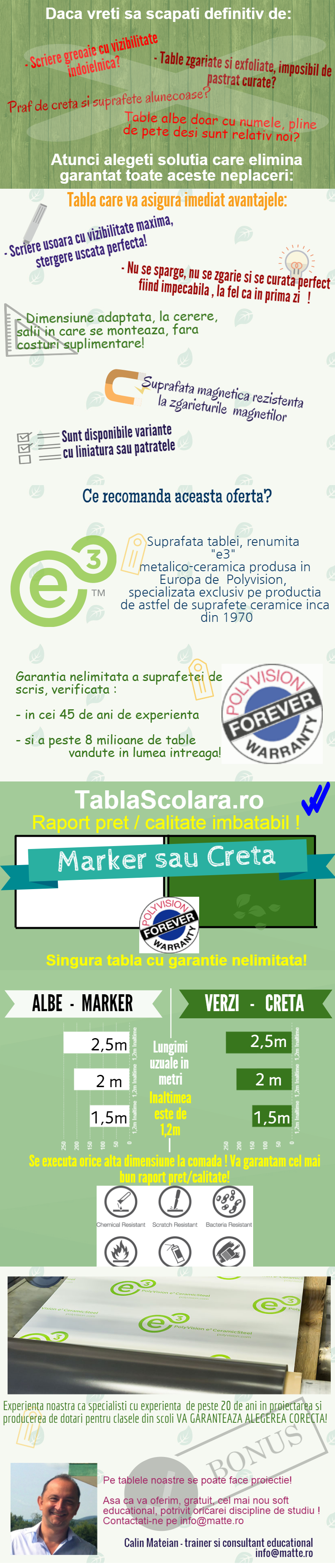 Table scolare de calitate